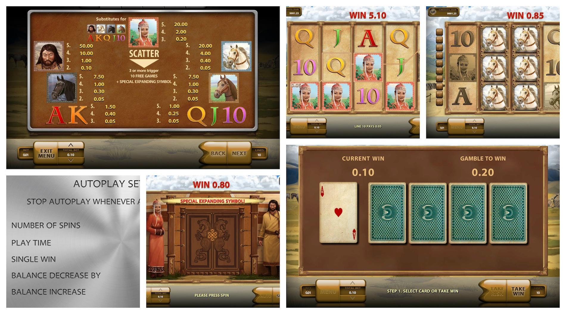 Играть Mongol Treasures бесплатно